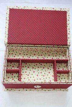Caja Diy Cardboard Furniture, Cardboard Box Crafts, Paper Crafts, Fabric Covered Boxes, Fabric Boxes, Diy Gift Box, Diy Box, Carton Diy, Diy Storage Boxes