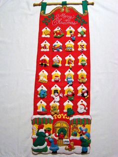 The Christmas Window - Toy Store Felt Advent Calendar available from www.thechristmaswindow.com