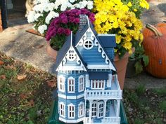 Victorian Hand Painted Lady Wooden Dollhouse by judipflynn on Etsy, $69.95