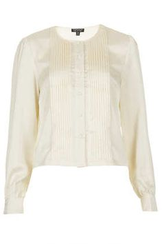 Pleat Front Blouse  Simple but elegant. Dress up or down.
