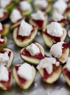 Bacon Goat Cheese Figs.  Such a perfect hors d'oeuvres for the holidays!