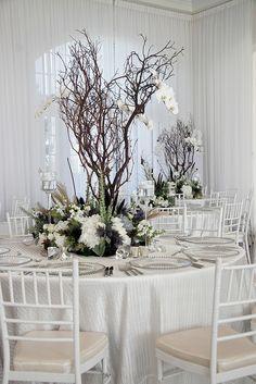 Manzanita branches great for winter! Bella Wedding, Green Wedding, Wedding Flowers, Branch Centerpieces, Wedding Centerpieces, Manzanita Branches, Wedding Crafts, Wedding Ideas, Here Comes The Bride