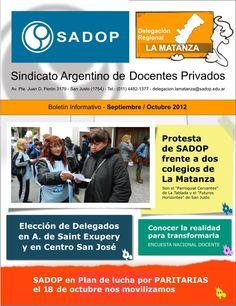 Tapa del Boletín Informativo correspondiente a los meses de Septiembre y Octubre de 2012