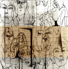 Ane Elene Johansen, pen and transparent paper. Very early works, but this, I think, was a bit cool.