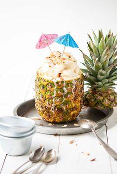 Vegan ice cream with pineapple & coconut