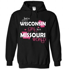 A WISCONSIN-MISSOURI girl Pink03 - #cute gift #creative gift. OBTAIN => https://www.sunfrog.com/States/A-WISCONSIN-2DMISSOURI-girl-Pink03-Black-Hoodie.html?68278