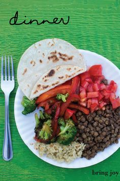 for weight loss, focus on filling your plate with plant-protein & colorful veggies // bring-joy.com #vegan #weightloss