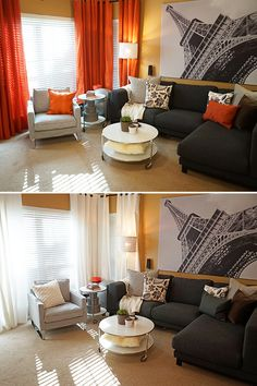 The IKEA Home Tour Squad quickly refreshed this living room by changing out the textiles to get it ready for the change of seasons!