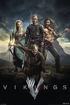 "Vikings History Channel Tv Show Poster / Print 24x36"" Characters PosterSuperstars http://www.amazon.com/dp/B00MPSZUKK/ref=cm_sw_r_pi_dp_Hbcwvb0SEF2F4"