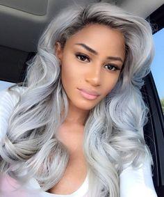 20 Inch Custom Lace Front Wig 1B/Grey