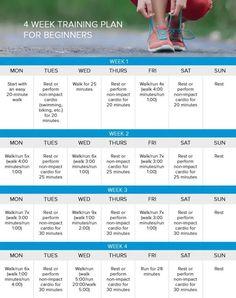 Running for weight loss 4 week training plan. Ideas for running to lose weight. Weight Loss Workout Plan, Weight Loss Plans, Weight Loss Program, Weight Loss Transformation, Best Weight Loss, Weight Loss Journey, Weight Loss Tips, Weight Lifting, Lose Weight Running
