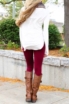 Legs For Days Leggings - Burgundy   uoionline.com: Women's Clothing Boutique
