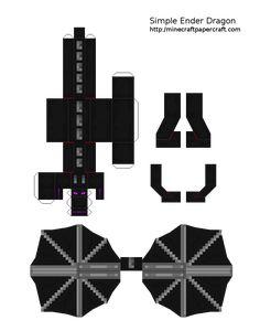 Papercraft Ender Dragon (Simple)