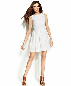 Vince Camuto Or 4 Or Fun & Flirty Cotton Eyelet Short Casual Dress Size 6 (S) off retail Eyelet Shorts, Eyelet Dress, Off White Dresses, Dresses For Work, Vince Camuto Dress, Daytime Dresses, Review Dresses, Fashion Branding, Dresses Online