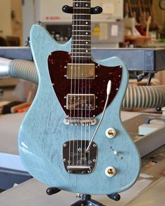 """TV Glacier Blue. This color is amazing. This guitar is amazing. This guitar is for sale. #thekaueroflove . . Search tags #geartalk #GearyBusey…"""