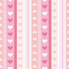 Striped Heart background vector graphics