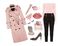 """""""Nude Pink Glam Outfit"""" by marjolaineetvous on Polyvore featuring mode, Boohoo, Burberry, Ted Baker, AERIN et Lime Crime"""