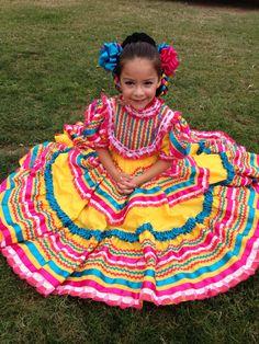 Ballet folklórico dress origin is from Jalisco, Mexico