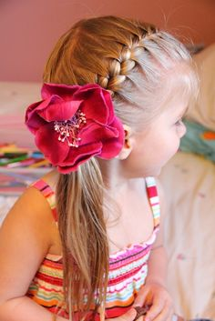 Cutie little girl style by Casey! If Peighton ever grows enough hair!!!