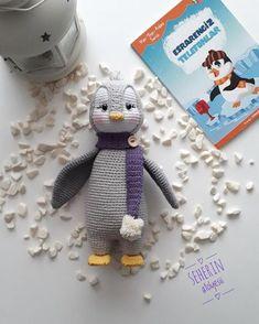 Making of Amigurumi Penguin Pingu - Stofftiere Crochet Bird Patterns, Crochet Bunny Pattern, Crochet Motifs, Amigurumi Patterns, Free Crochet, Crochet Animal Amigurumi, Crochet Baby Toys, Amigurumi Doll, Crochet Animals