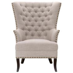 Darby Home Co Moise Wingback Chair Upholstery: Fog Velvet Wingback Accent Chair, Chair Upholstery, Upholstered Dining Chairs, Chair Cushions, Accent Chairs, Wingback Chairs, Grey Chair, Lounge Chairs, Cheap Chairs