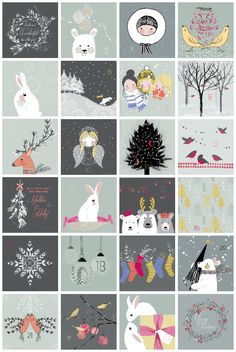 advent, calendar, christmas, illustration