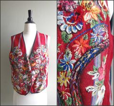 Vintage embroidered bohemian vest by OldSchoolSwank on Etsy, $37.00