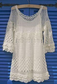 Hand knit Crochet Dress.