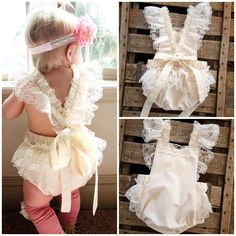 Cheap clothes rack, Buy Quality clothes lace directly from China clothes pieces Suppliers: Newborn Baby Girls Clothes Floral Bodysuit Lace Ruffle Bebes Body Bodysuits Princess Girl Sunsuit Clothes Cute Newborn Baby Girl, Baby Girl Bows, Baby Girls, Baby Girl Romper, Baby Dress, Baby Rompers, Boho Baby, Diy Baby, Ruffle Romper