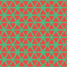 Triangles Red on Green#Repin By:Pinterest++ for iPad#