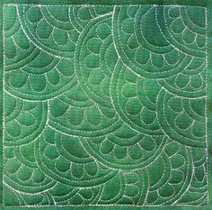 77. Free Motion Quilting Daisy Echo, #418 - 365 Days of Free Motion Quilting Filler Designs