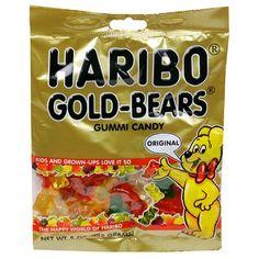 Haribo Gummi Candy, Original Gold-Bears, 5-Ounce Bags (Pack of 12) $14.22 #topseller