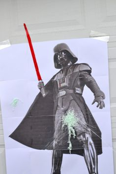 Who needs pin the tail on the donkey when you can have spray Darth Vader with silly string!