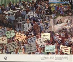 Political Posters, Labadie Collection, University of Michigan: Collective bargaining - community progress