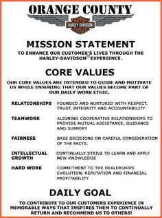 Harley Davidson Values >> 17 Best Work Images Core Values Corporate Values Company