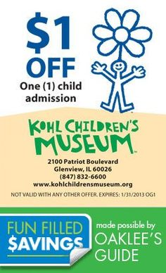 Coupons for Family Fun Activities in Chicago and Suburbs Local Coupons, Family Activities, Children's Museum, Summertime, Brain, Chicago, Money, The Brain, Silver