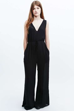 Staring at Stars Cut-Out Wide Leg Jumpsuit in Black