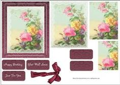 Roses And Lace Card Topper With Pyramage