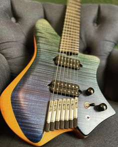 "XOLO Custom Guitars on Instagram: ""Tonatiuh 7, with an incredible flamed maple top over a mahogany body. @fishmanmusic @jjavierreyess set, @tan_bridge chrome hardware, custom…"""
