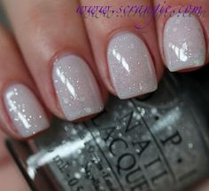 OPI Pirouette My Whistle (one coat) over Don't Touch My Tutu!