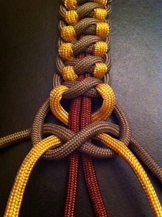 Different take on a square knot- paracord is good for practicing Chinese knots if you never used it.
