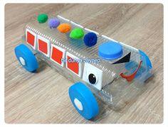 #preschool #okulöncesi #kindergarten #sayılar #sanatetkinliği #kidscraft #bus #otobüs #artıkmateryal #oglumlaetkinlikler