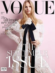 Vogue Thailand - Vogue Thailand September 2016 Covers Annika Krijt - Model