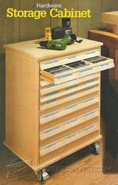 Hardware Storage Cabinet Plans - Workshop Solutions Projects, Tips and Tricks | WoodArchivist.com