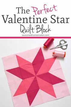 Learn How To Make A Perfect Variable Star Quilt Block using Half Square Triangles. #variablestar #quiltingblocks #halfsquaretriangle via @seasonedhome
