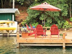 At the cottage dock....