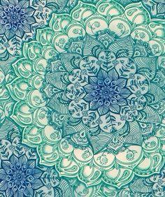 Mandala Pattern blue & green