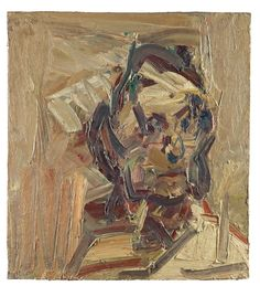 Frank Auerbach - HEAD OF RUTH BROMBERG, 2000, oil on board, 61 x 55.9cm