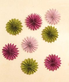 PAPER FLOWER PINWHEEL decoration or garland.