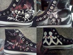 Three Days Grace Shoes by GiveUsNovacaine.deviantart.com on @deviantART